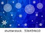 dark blue christmas postcard...   Shutterstock .eps vector #536454610