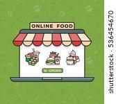 online food ordering grocery... | Shutterstock . vector #536454670
