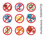 anti bacteria and germs signs... | Shutterstock . vector #536454733