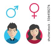 vector male and female icon set.... | Shutterstock .eps vector #536458276