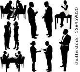 women and men drink wine... | Shutterstock .eps vector #536459020