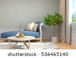interior with sofa. 3d... | Shutterstock . vector #536465140