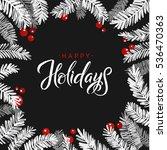 merry christmas fir tree card....   Shutterstock .eps vector #536470363