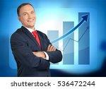 businessman on chart background. | Shutterstock . vector #536472244