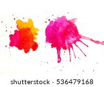 abstract colorful blobs on... | Shutterstock . vector #536479168