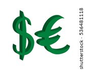green set of main currency... | Shutterstock .eps vector #536481118