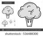 broccoli vector line icon... | Shutterstock .eps vector #536488300