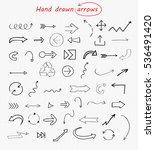 vector hand drawn arrows.doodle ...   Shutterstock .eps vector #536491420