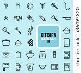 set of clean line cooking and... | Shutterstock .eps vector #536492320