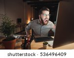picture of angry web designer...   Shutterstock . vector #536496409