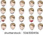 man face set | Shutterstock .eps vector #536500456