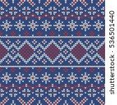 christmas knitting seamless... | Shutterstock .eps vector #536501440