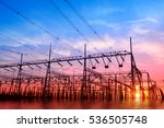 High Voltage Power Grid  In Th...