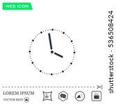 vector clock illustration | Shutterstock .eps vector #536508424