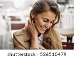 fashion portrait of young woman ...   Shutterstock . vector #536510479