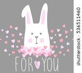 cute vector card with cartoon...   Shutterstock .eps vector #536511460