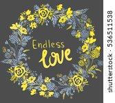 vector wreath with flowers....   Shutterstock .eps vector #536511538