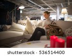 pretty  young woman choosing...   Shutterstock . vector #536514400