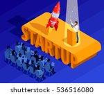 business startup isometric... | Shutterstock .eps vector #536516080