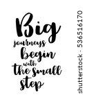 motivational quote  vector... | Shutterstock .eps vector #536516170