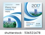 Blue Color Scheme with City Background Business Book Cover Design Template in A4. Can be adapt to Brochure, Annual Report, Magazine,Poster, Corporate Presentation, Portfolio, Flyer, Banner, Website. | Shutterstock vector #536521678