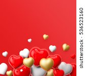 realistic 3d colorful romantic... | Shutterstock . vector #536523160