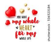 realistic 3d colorful romantic... | Shutterstock . vector #536523184
