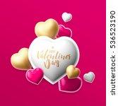 realistic 3d colorful romantic... | Shutterstock . vector #536523190