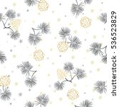 seamless pattern with pine cones | Shutterstock .eps vector #536523829