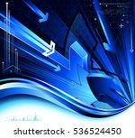 tech abstraction. raster... | Shutterstock . vector #536524450