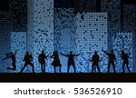 band show on night city... | Shutterstock .eps vector #536526910