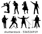 set of silhouettes of musicians ... | Shutterstock .eps vector #536526919