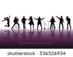 power of music concept. set of... | Shutterstock .eps vector #536526934
