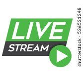 live stream icon  badge  vector ... | Shutterstock .eps vector #536531248