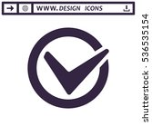 tick icon vector flat design...