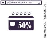 discount icon vector flat...