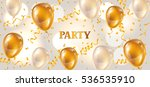 celebration party banner with... | Shutterstock .eps vector #536535910