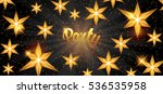 celebration party banner with... | Shutterstock .eps vector #536535958