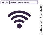 wifi icon vector flat design... | Shutterstock .eps vector #536537338