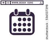 calendar icon vector flat...