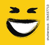 laughing emoticon. emoji with... | Shutterstock .eps vector #536537713