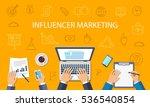 influencer marketing concept.... | Shutterstock .eps vector #536540854