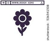 flowers icon vector flat design ...