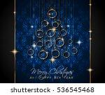 merry christmas background for... | Shutterstock . vector #536545468