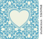 baroque heart background ... | Shutterstock .eps vector #53654968
