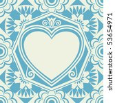 baroque heart background ... | Shutterstock .eps vector #53654971