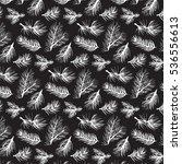 fir tree branch pattern | Shutterstock .eps vector #536556613