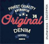 vintage denim print for t shirt ... | Shutterstock .eps vector #536559904
