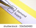 demand or supply  demand. | Shutterstock . vector #536560483