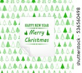 merry christmas green withe... | Shutterstock .eps vector #536560498